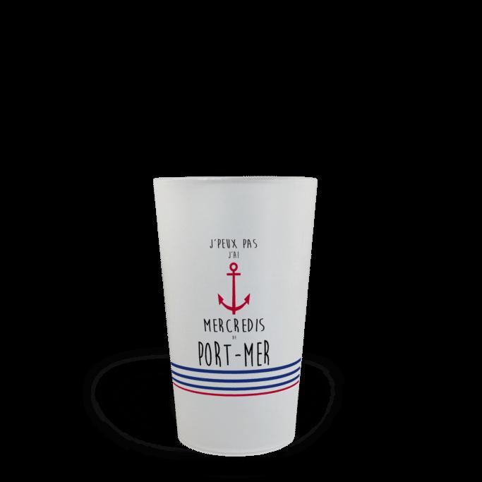 CUP 25 personnalisé Mercredi de port-mer