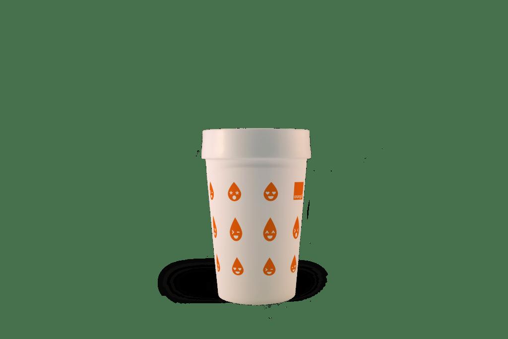 Gobelets personnalisés réutilisables Orange