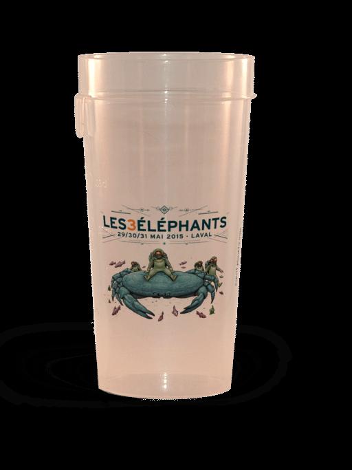 Gobelets réutilisables personalisés Ep 50 Les 3 éléphants