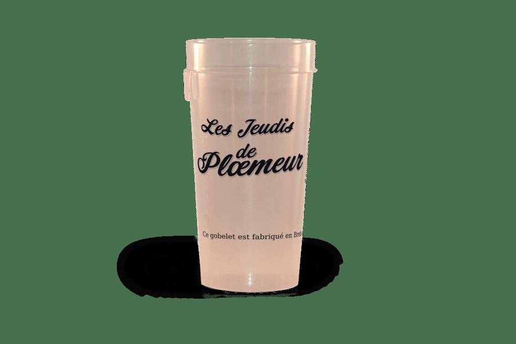 Gobelets réutilisables personalisés Ep 50 Jeudis de ploeumeur