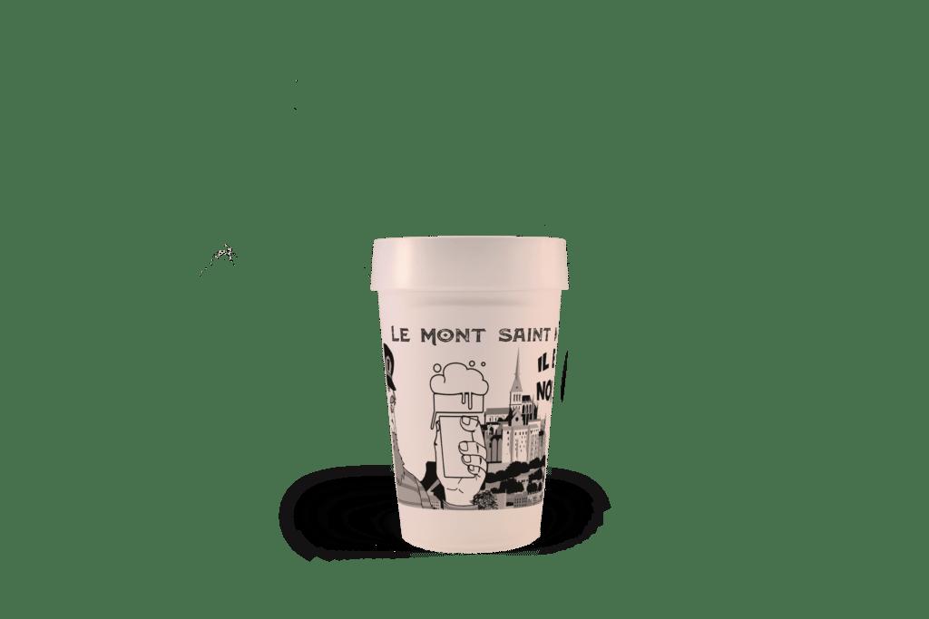 Gobelet réutilisable EP25 Le Mont Saint Michel