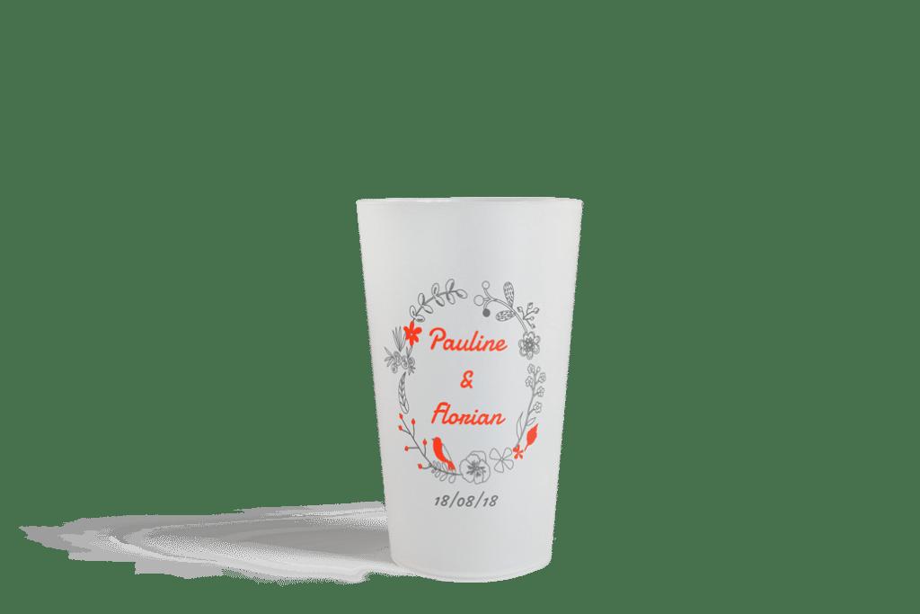Gobelet Esprit Planète Cup 25 Mariage - Pauline & Florian