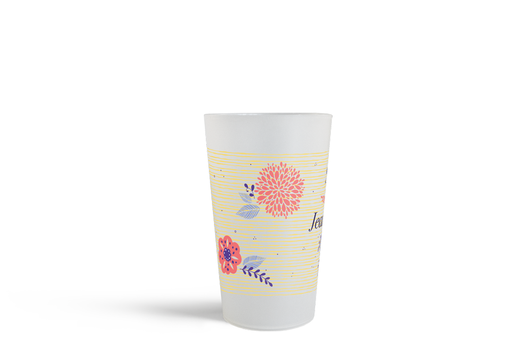 Gobelet CUP 25 Neutre Yellow Flower