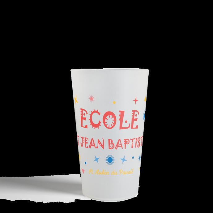 Gobelet CUP 25 Neutre generique ecole 2