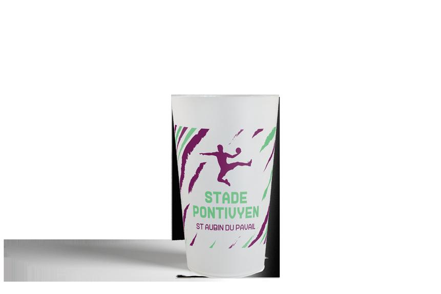 gobelet personnalisé, personnalisable et réutilisable Rayure Handball