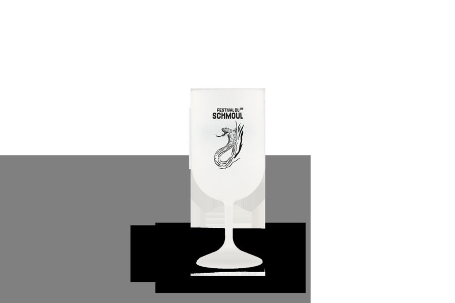 Verre à vin classique neutre Festival du Schmoul 2020