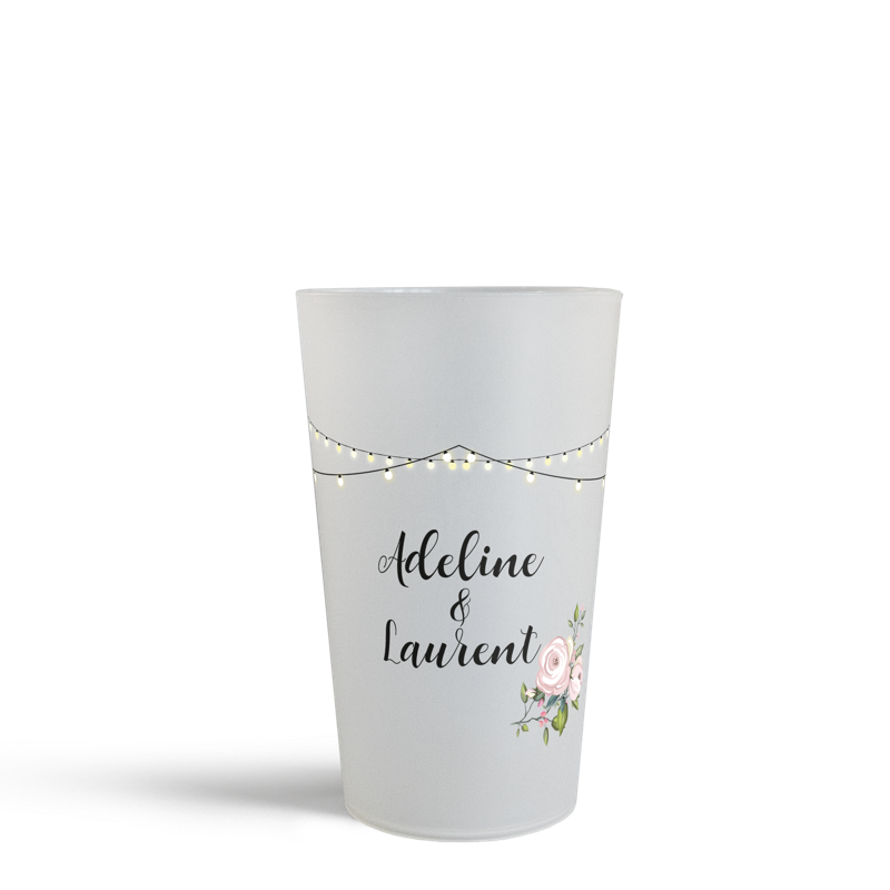 Gamme Mariage Lovers gobelet personalisé